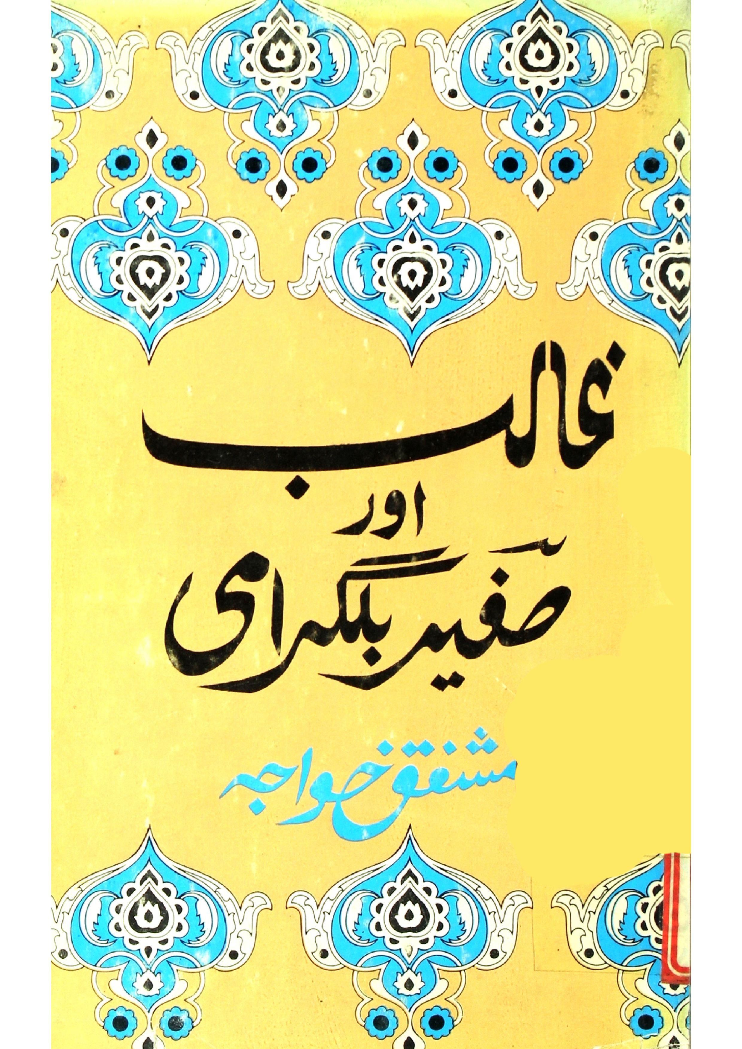 Ghalib Aur Safeer Bilgarami
