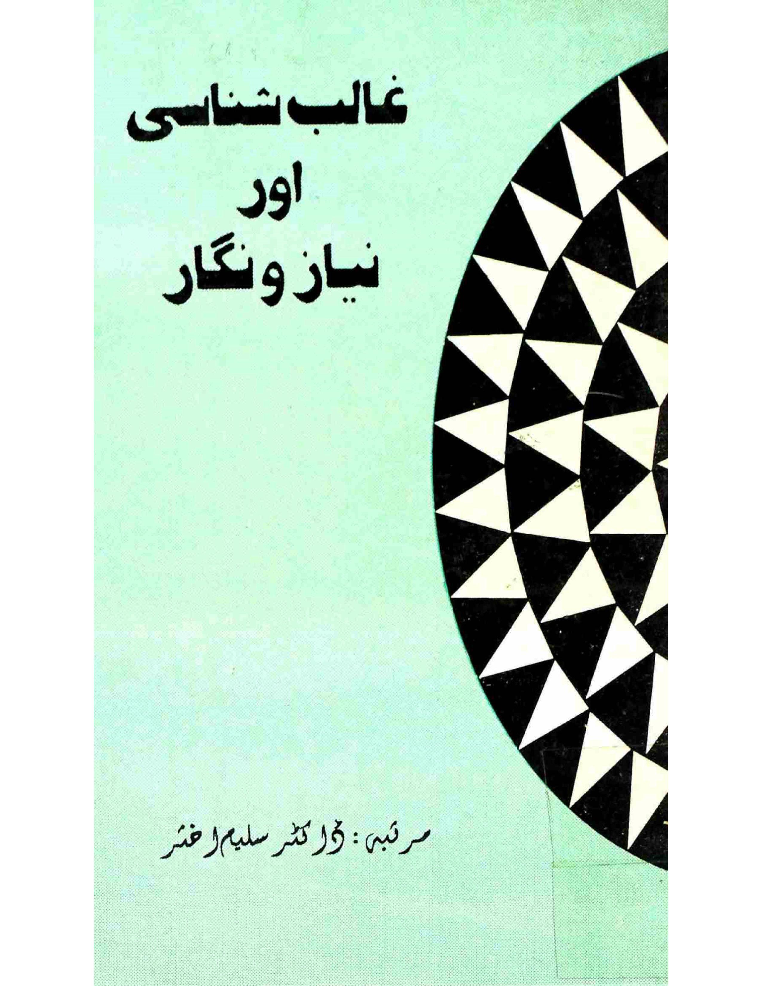 Ghalib Shanasi Aur Niyaz-o-Nigar