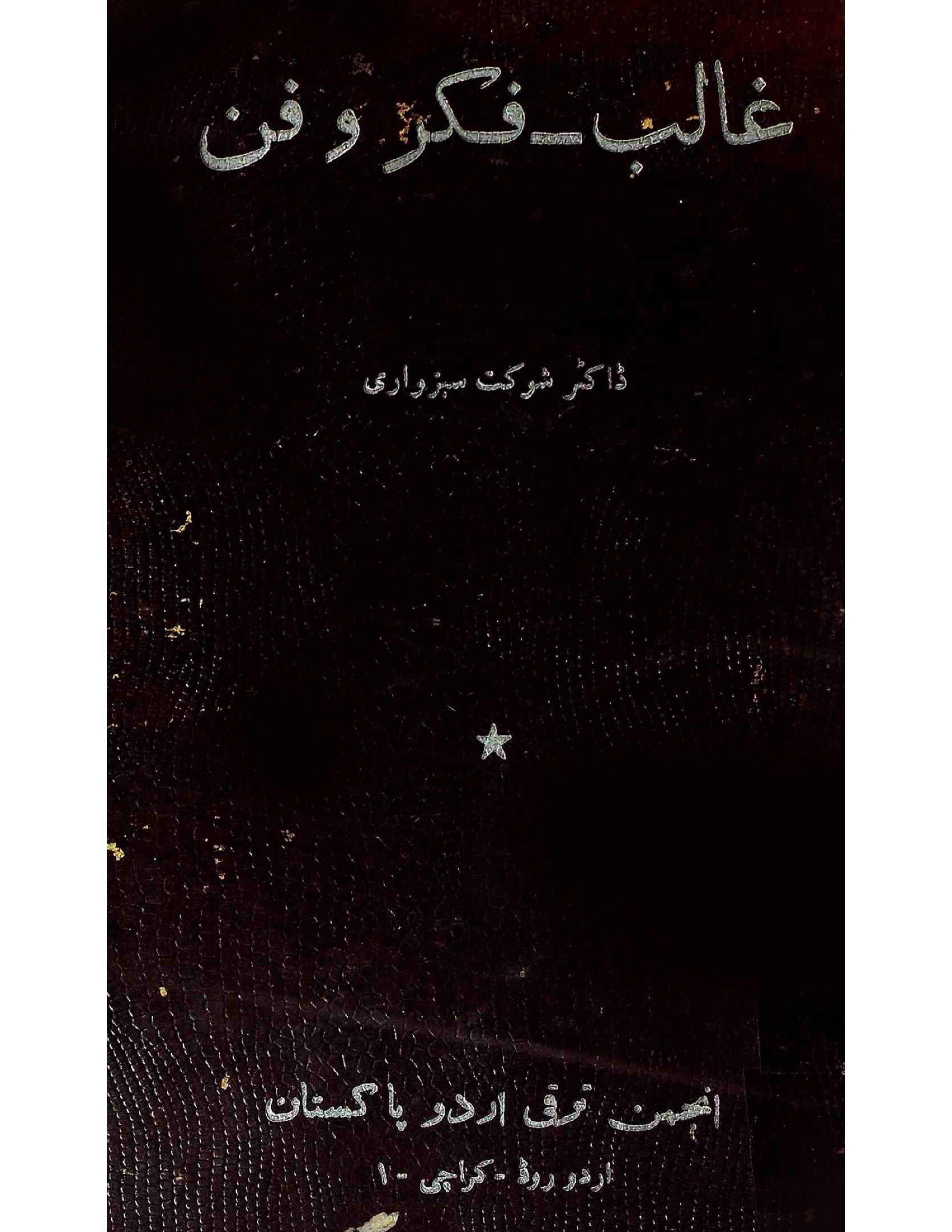 Ghalib Fikr-o-Fan